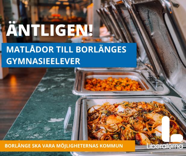 Äntligen matlådor till Borlängesgymnasieelever!