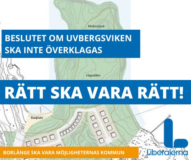 Rätt att kommunen backar omUvbergsviken